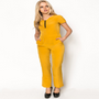 Zip Front Bright Jumpsuit