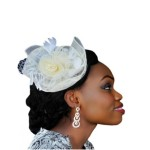 Exquisite Bridal Fascinator - Ivory & White