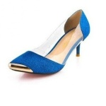 Head Metal Sequined Pump - Blue