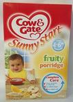 Cow & Gate Sunny Start 4-6 Months Onwards Fruity Porridge (125g)