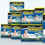 Babysoft M- 20 Pcs X 10bags| 200 Diapers Sizes 2