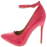 Alba+Pointed+Toe+Ankle+Strap+Heel+-+Peach