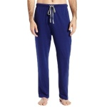 Men's Sleepwear Solid Knit Pant - Blue