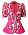 TooshMeHenri Celline Triple Peplum Jacket - Pink