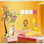 Nutro Tech Lion Tree Cartoon Wall Sticker