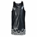 Leather Tank Top With Bandana Extension