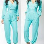 Ladies Jumpsuit - Ocean Blue