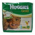 Huggies Gold Size 3 5-9kg (20ct)