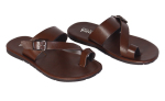 Finch Buckler Leather Slippers Coffee