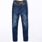 Straight Casual & Corporate Jeans Trouser For Men - Blue