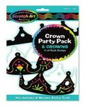 Melissa & Doug Crown Scratch Art Party Pack