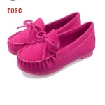 Dixde Casual Bow-knot Flat Slip Spring Autumn Candy Color Loafers - Pink