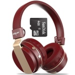 Zealot+Bluetooth+Over+Ear+Headphone+With+4gb+Memory+Card+-+Red