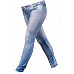 Xfashion Denim Look One Size Jeggings - Stars