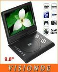 9.8 Lcd Portable Dvd/tv Player